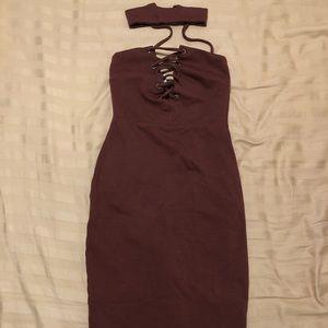Maroon dress!